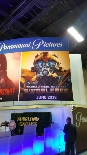 Poster for Transformers Bumblebee 2018 Movie at Licensing Show