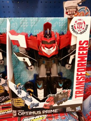 First Sighting of Transformers Robots in Disguise (2015) Mega Optimus Prime at retail