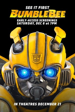 Early screenings of Bumblebee Movie announced via Paramount Press Release
