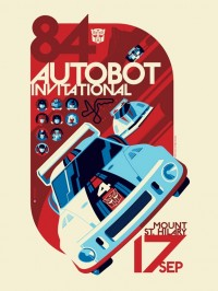 "Transformers News: New Transformers Print from Acidfree Gallery, ""AUTOBOT Invitational"""