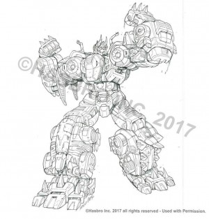 Transformers Power of the Primes Volcanicus Package Art Pencils by Marcelo Matere