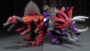 Transformers News: Video Reviews: Transformers Age of Extinction Deluxe Dinobots Scorn and Slug