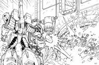 Transformers News: Line Art from AHM #14: Galvatron
