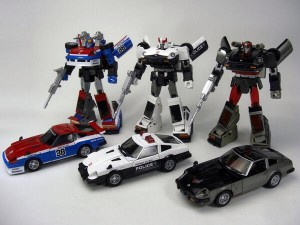 Transformers News: New Image of Takara Tomy Transformers Masterpiece MP-17 Prowl, MP-18 Bluestreak, and MP-19 Smokescreen