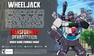 Transformers News: New Transformers: Devastation Bio - Wheeljack