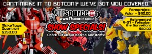 Transformers News: TFsource Weekly Wrapup! Botcon Sale and Exclusives, Gravity Builder, FansToys & More!