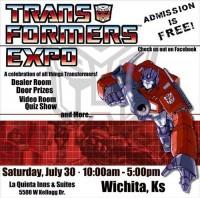Reminder: Transformers Expo in Wichita, KS Tomorrow