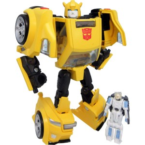 Transformers News: Takara Transformers Legends Bumblebee Video Review with Comparison to Hasbro Titans Return Figure