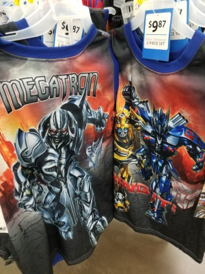 Transformers: The Last Knight Children's pajamas spotted at US Retail
