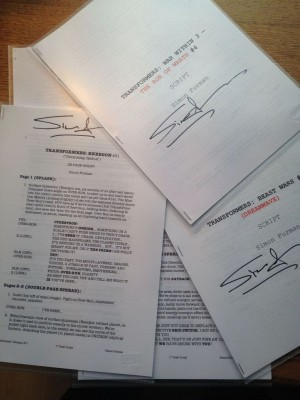 Dreamwave Transformers - The Unpublished Scripts up for Sale on Ebay
