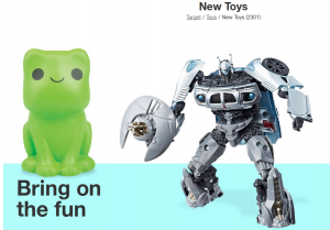 Transformers News: Target.com Spend $50 Save $10, Spend $100 Save $25, plus Free Shipping
