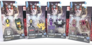 Transformers News: Video Review of Transformers Titans Return Titan Masters Wave 2: Clobber, Skytread, Brawn, Apeface