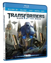 Transformers News: TRANSFORMERS: DARK OF THE MOON blasts onto a four-disc Ultimate Edition Blu-ray 3D, Blu-ray and DVD combo pack on January 31st