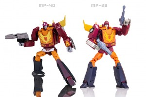 New image of MP-40 Targetmaster Hot Rodimus & comparisons to MP-28 Hot Rod