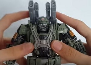 Transformers News: Video Review for Voyager Hound from Transformers: The Last Knight Showing Weapon Storage and Extras