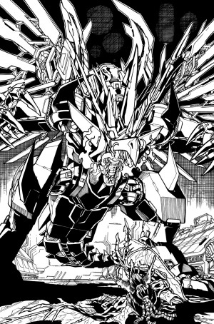 New Transformers Galaxies #5 Line Art by Alex Milne Shown Off