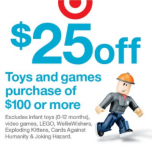 Steal of a Deal: $10 off $50 and $25 off $100 on Toys in Store With Coupon