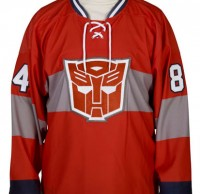 "Transformers News: Winner announced from our ""Win an Optimus Prime Hockey Jersey from 80sTees.com"" contest"
