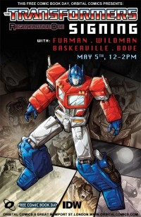 Transformers Regeneration One 80.5 Signing at Orbital Comics London