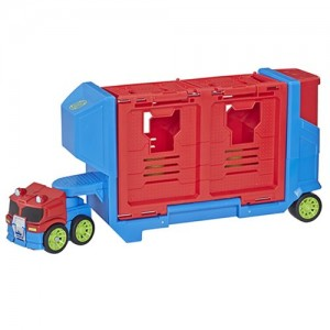 Rescue Bots Hot Shot Toys Found at US Retail and Optimus Prime Launcher Trailer Revealed