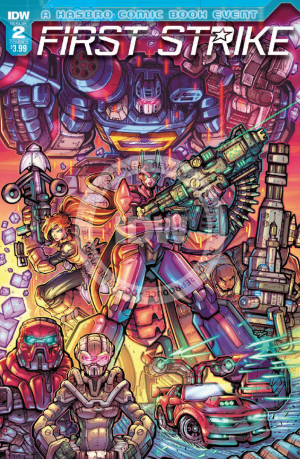 Review of IDW First Strike #2, featuring Transformers, GI JOE, and MASK #HasbroFirstStrike