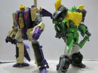 Transformers News: In-Hand Images: Transformers Generations Voyager Blitzwing & Springer, Legends Optimus Prime with Roller & Bumblebee with Blazemaster