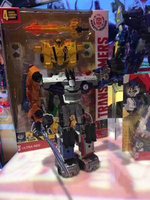 Transformers News: Toy Fair 2017 - Showroom Images of Transformers Robots in Disguise Combiner Force: Ultra Bee, Galvatronus, Menasor #HasbroToyFair #TFNY