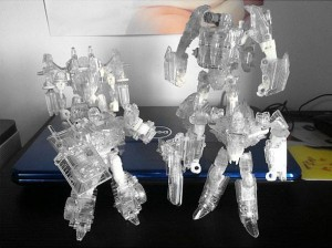 Transformers News: More Clear Transformers Generations Images: Trailcutter and Dreadwing