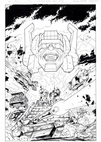 Transformers News: Original Guido Guidi Transformers Comic Art on eBay
