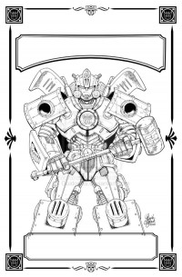 Transformers News: Transformers : Evolutions - Hearts of Steel TPB Reissue Cover Lineart