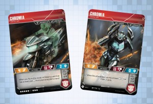 Chromia and more revealed for the Official Transformers Trading Card Game