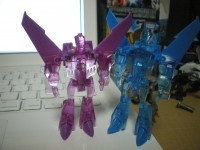 Transformers News: New Images of Takara Exclusive EZ Collection Clear Purple Skywarp.