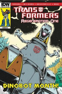 Transformers News: Transformers: Regeneration One #82 Covers - Dinobot Month Begins!
