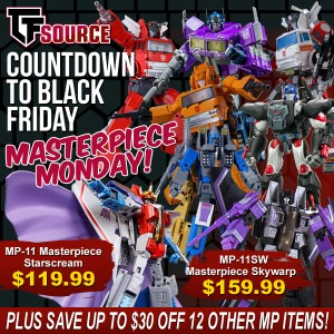 Transformers News: TFSource Countdown to Black Friday - DAY 1 - Masterpiece Monday!