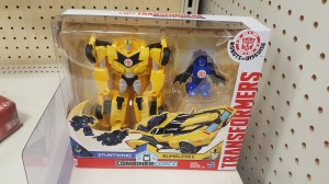 Transformers News: Transformers Robots In Disguise Combiner Force Bumblebee and Stuntwing found at US retail