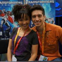 Transformers News: SDCC 2012 Coverage: Seibertron.com visits with Transformers Prime's Josh Keaton and Tania Gunadi
