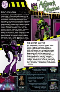 Transformers News: Ark Addendum Update - Ravage's Transformation Sequence Plus AllSpark Almanac Addendum Preview Page