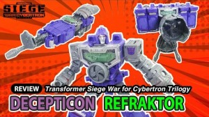 Transformers News: New Video Review of Transformers War for Cybertron Siege Deluxe Class Reflector / Refracktor