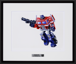 Transformers Master Art Collection - Limited Edition Optimus Prime Package Art Production