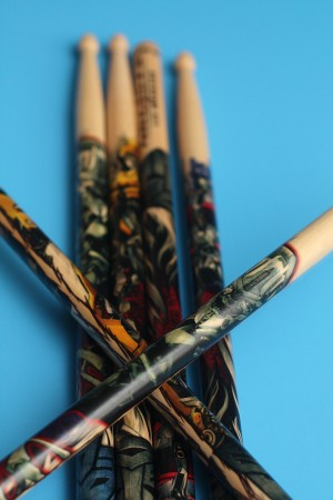 NRG's Lee Mangano Transformers Themed Drumsticks