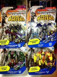 Transformers News: In-Package Images: Transformers Prime Beast Hunters Deluxe Wave 4