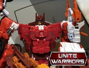 TakaraTomy Transformers Unite Warriors: Tokyo Toy Show Display UW-08 Computron & UW-07 Bruticus