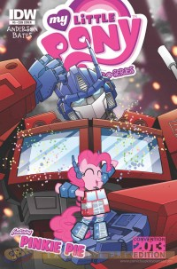 Transformers News: My Little Pony Micro Series #5 Convention Variant Cover with Optimus Prime and Pinkie Pie Revealed