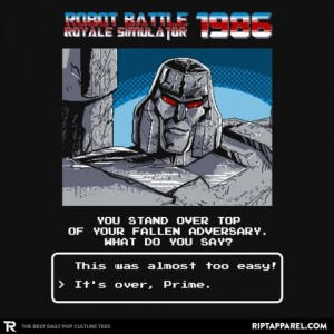 New Transformers Inspired Ript Apparel T-Shirt with Site Discount