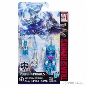 In Package Images of  Alchemist Prime and Alpha Trion from Transformers Power of the Primes