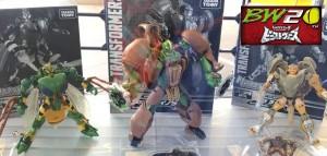 TakaraTomy Transformers Legends EX: Rhinox, Rattrap, & Waspinator On Display And In Box