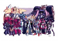 Transformers News: Nick Roche Auto Assembly 2013 'More Than Meets the Bad Guys' Print