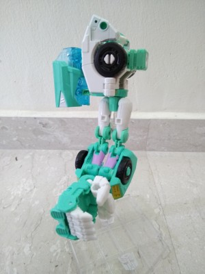 Transformers News: Even More In-Hand Images of Transformers Power of the Primes Moonracer, Including Arm Mode