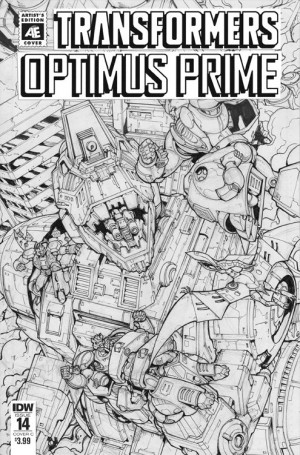 IDW Optimus Prime #14 Artist Edition Variant Cover by Andrew Griffith