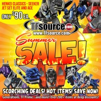Transformers News: TFsource SUMMER SALE - Save BIG with over 200 HOT ITEMS up to 75% off!